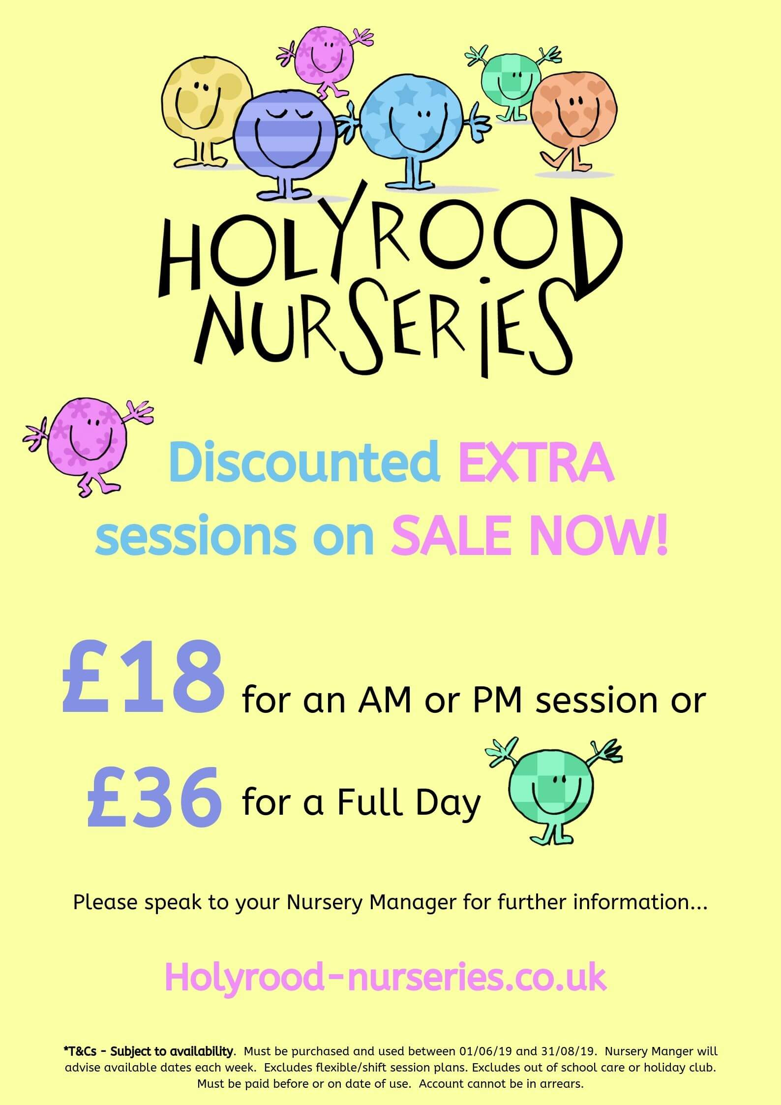 reduced nursery rates in prestwich